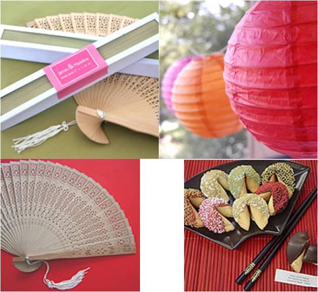 Asian favor theme wedding