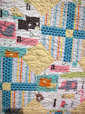 Alpha Animals, quilting detail