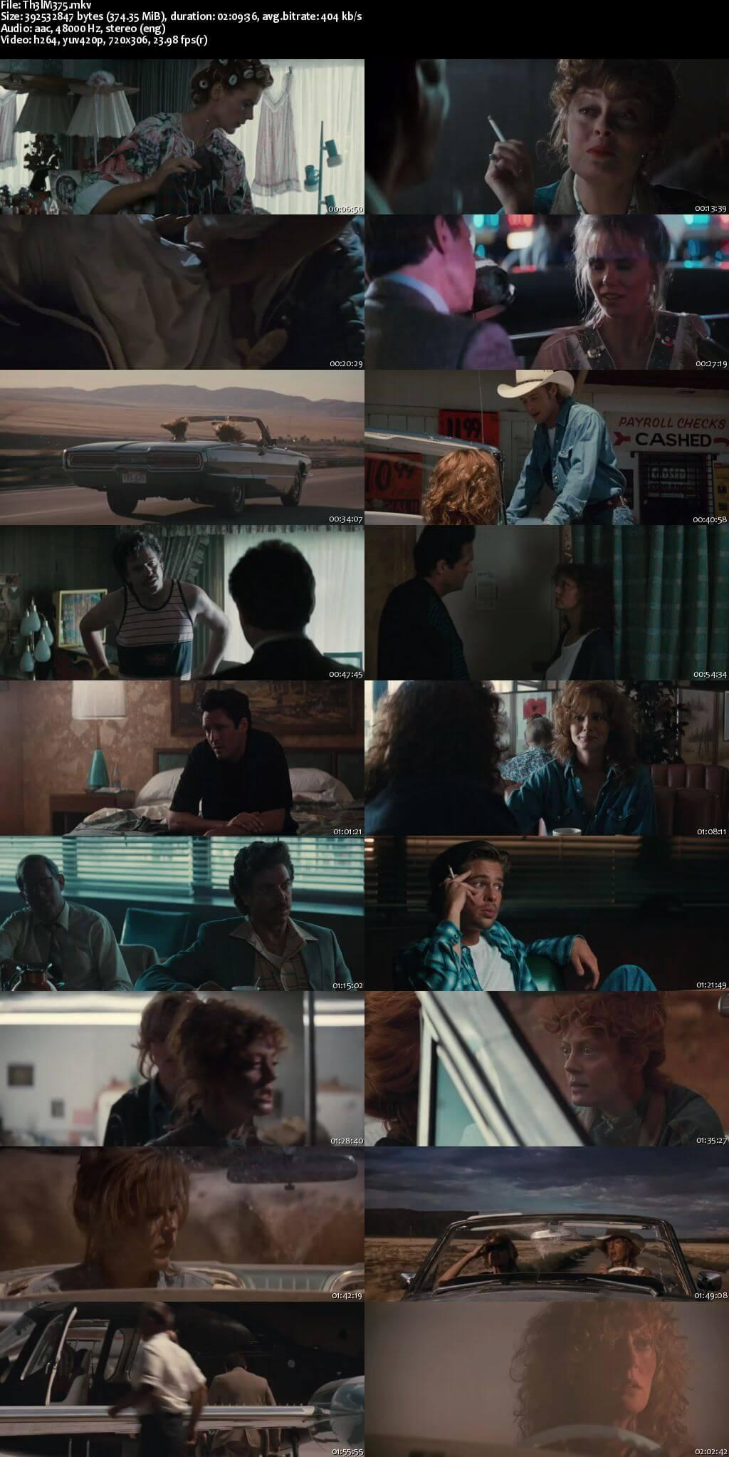 Screen Shot Of Thelma & Louise 1991 Full Movie Download Free Watch Online 300MB