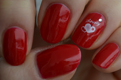 nails of the day, red nails, notd