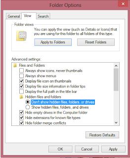 Cara Menyembunyikan File di Windows 8