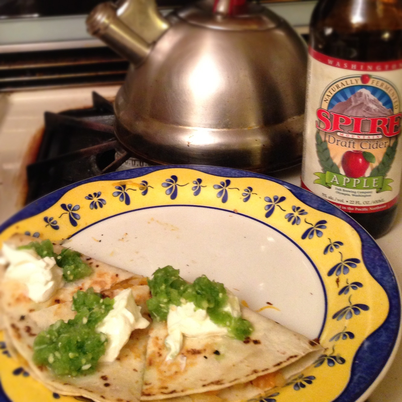 Wandering Voyager: Butternut Squash Quesadillas with Tomatillo Salsa