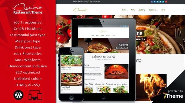 Cucina – Beautifull WordPress Restaurant Theme