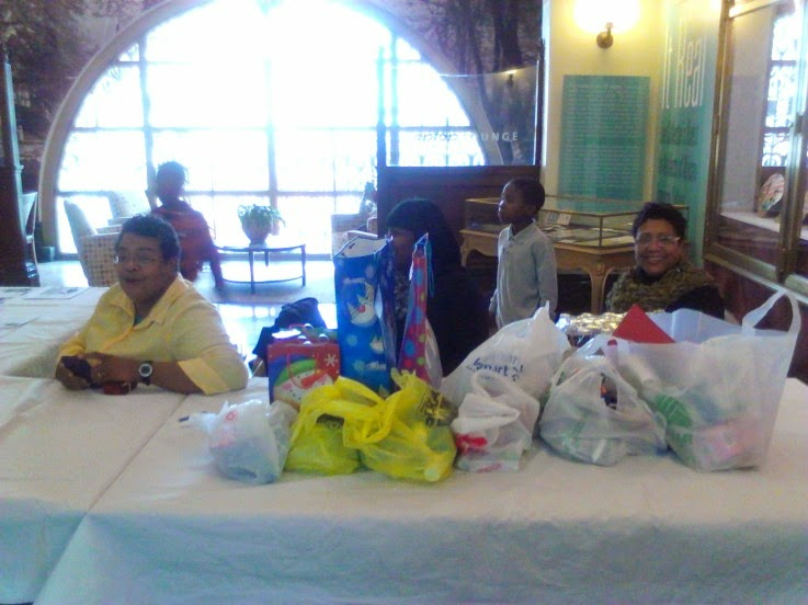 Volunteers collecting donated goods at one of CAOT's Christian book tour stops!