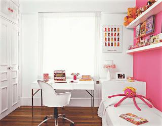 como decorar um quarto feminino rosa