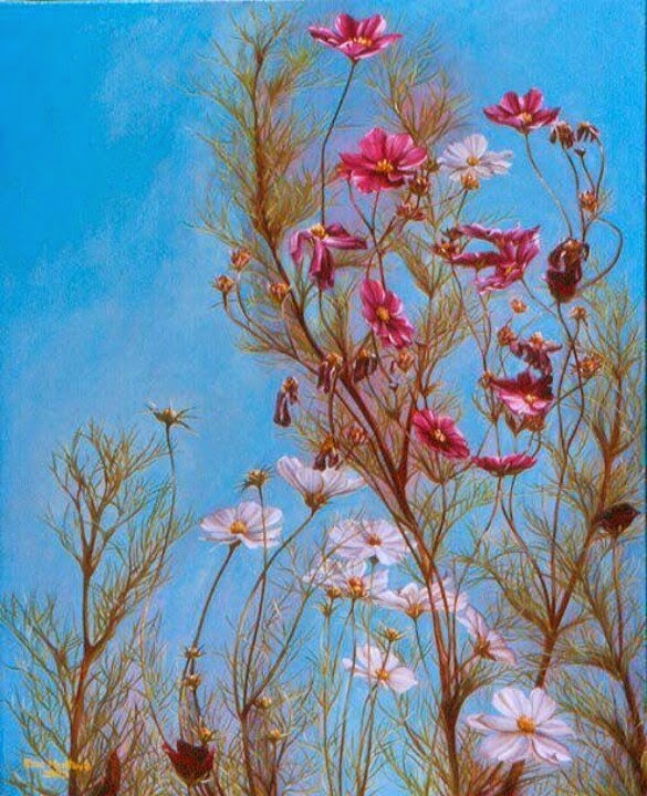 flower face optical illusion