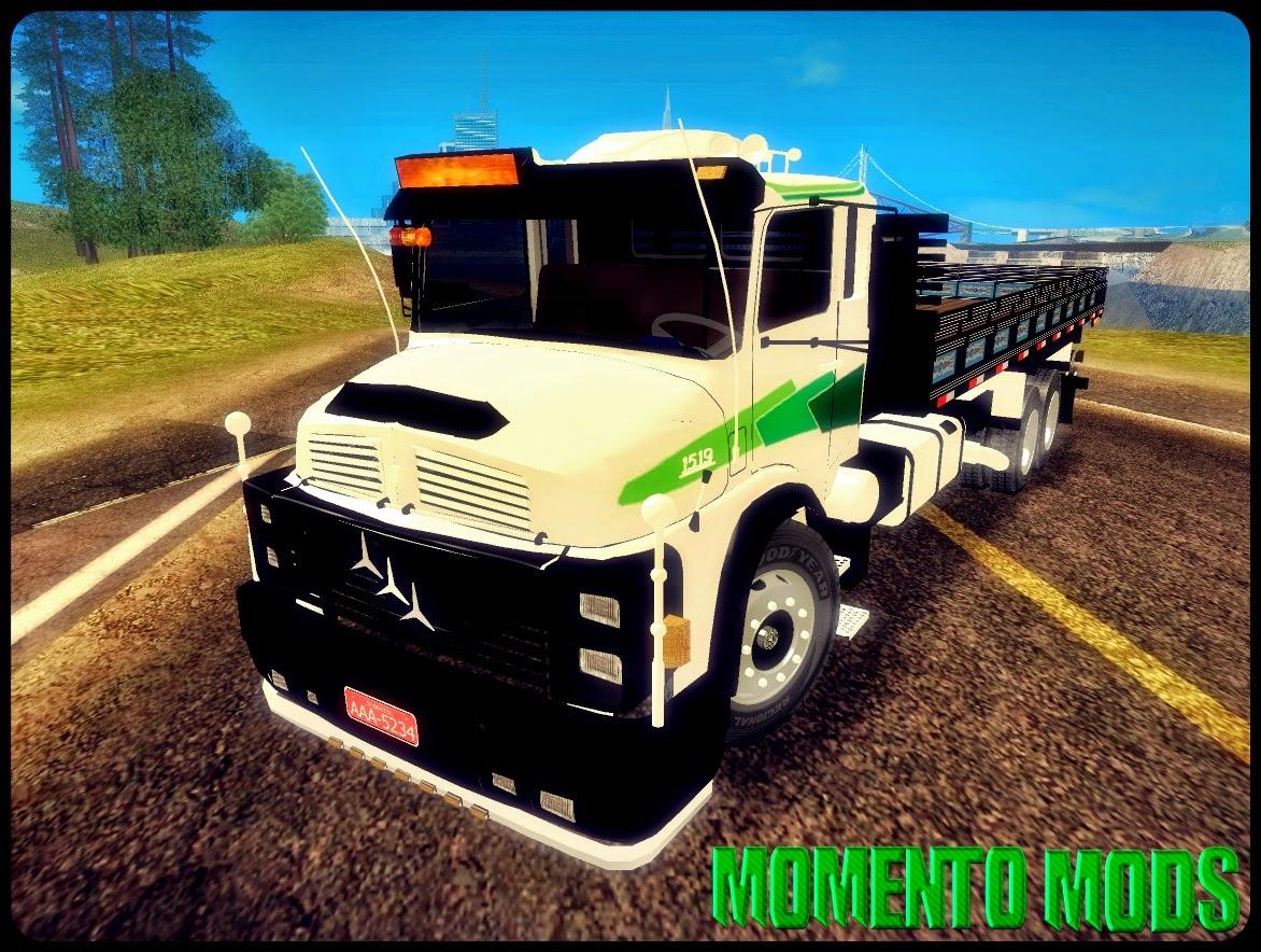GTA SA - Mercedes Benz 1519 Truck Carroceria