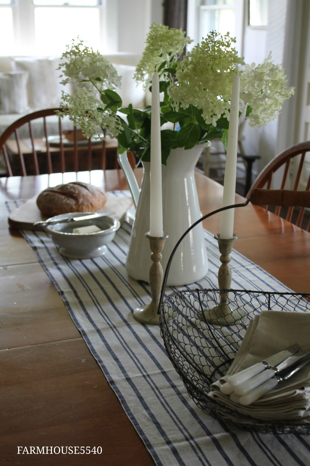 Casual decor runners and table runners on pinterest for Kitchen table setting ideas
