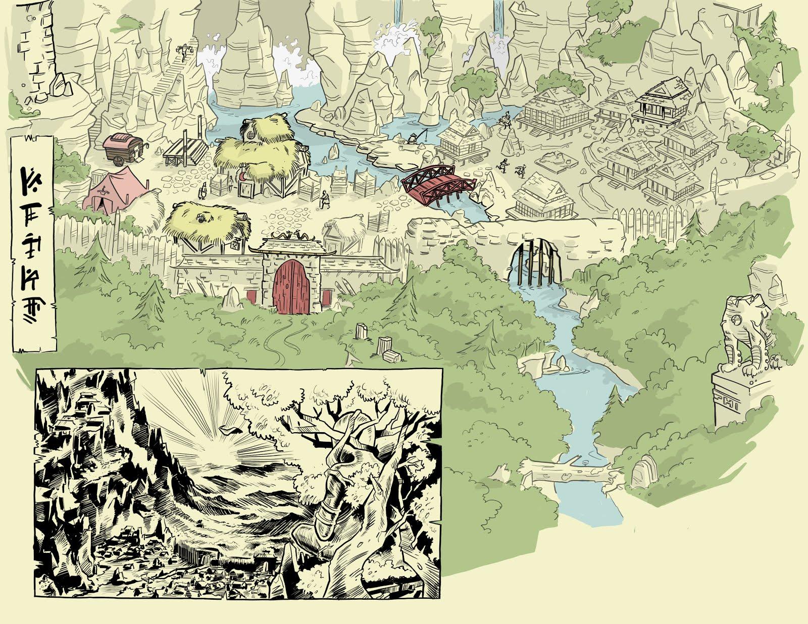 Orzone, le bas de la ville (donjons et dragons)