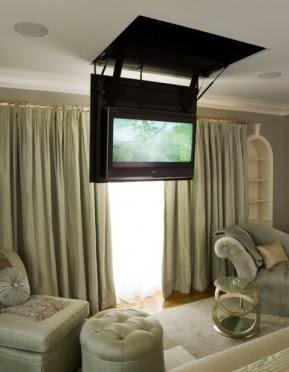 Hidden tv in the ceiling