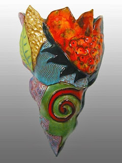 Wall Vase, Cathy Kiffney