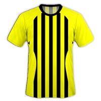 Jersey Sepakbola dan Futsal Kuning Garis Hitam zonapelatih.net