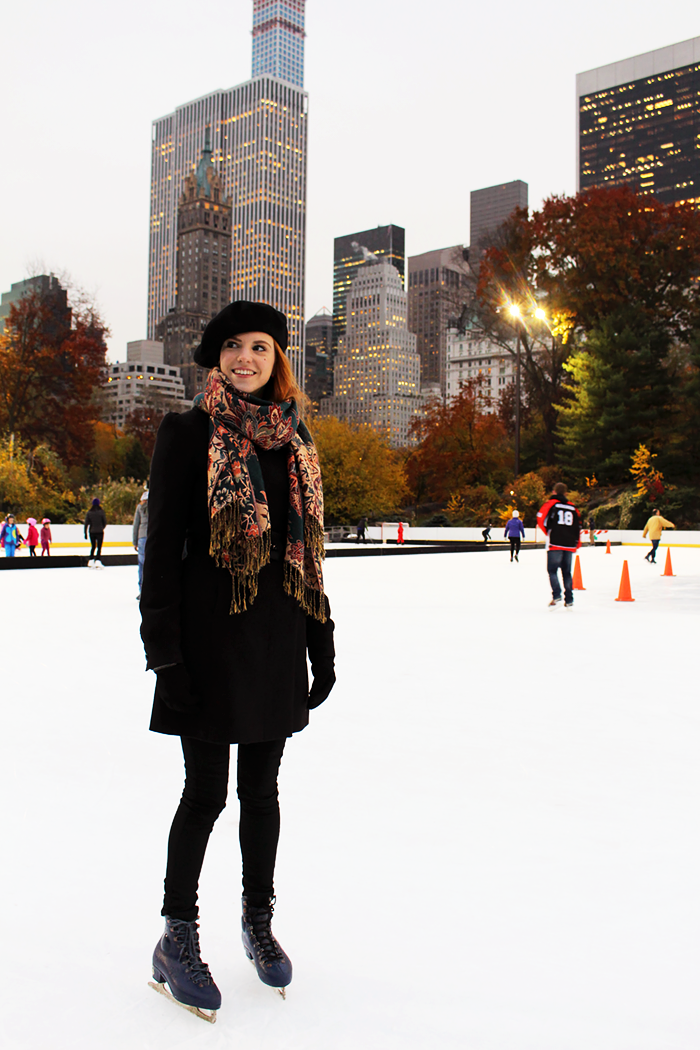 NYC New York Fall Ice Skating in Central Park