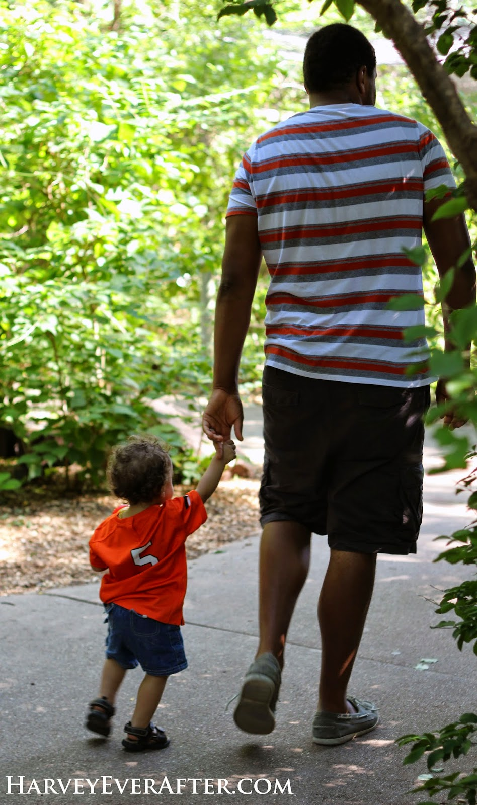 Daddy and son at the Lincoln Children's Zoo