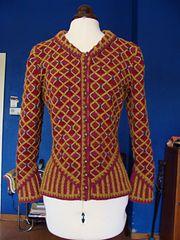 Katherine Hovard knitting
