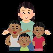 海外の子供のために働く人のイラスト(女性)
