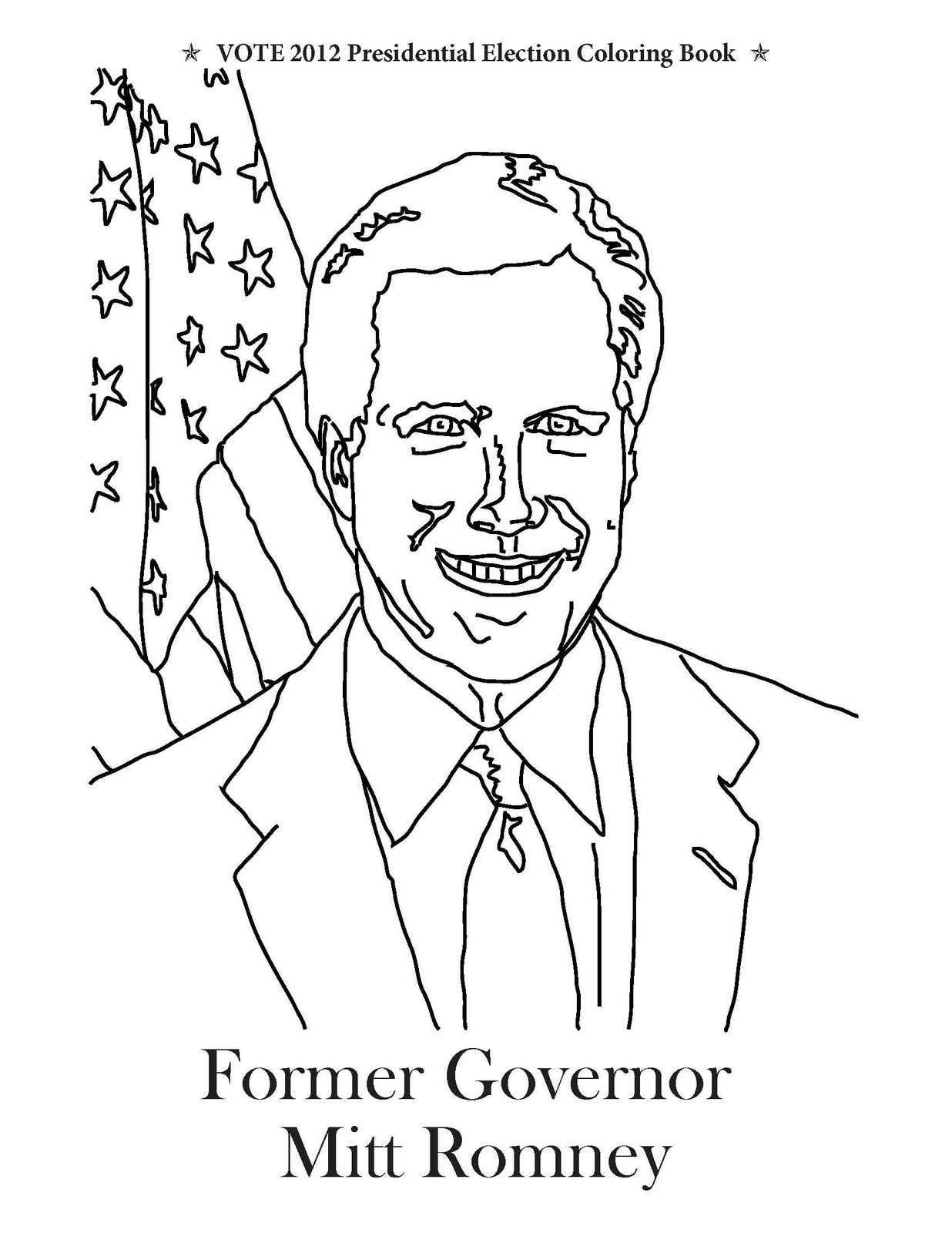 governor mitt romney ready for coloring from our coloring book vote 2012 presidential election