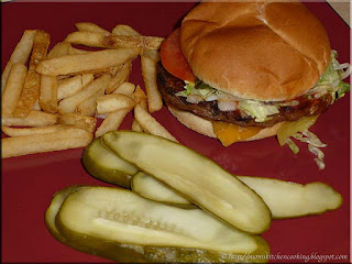 Harvey's original cheesburger with fries
