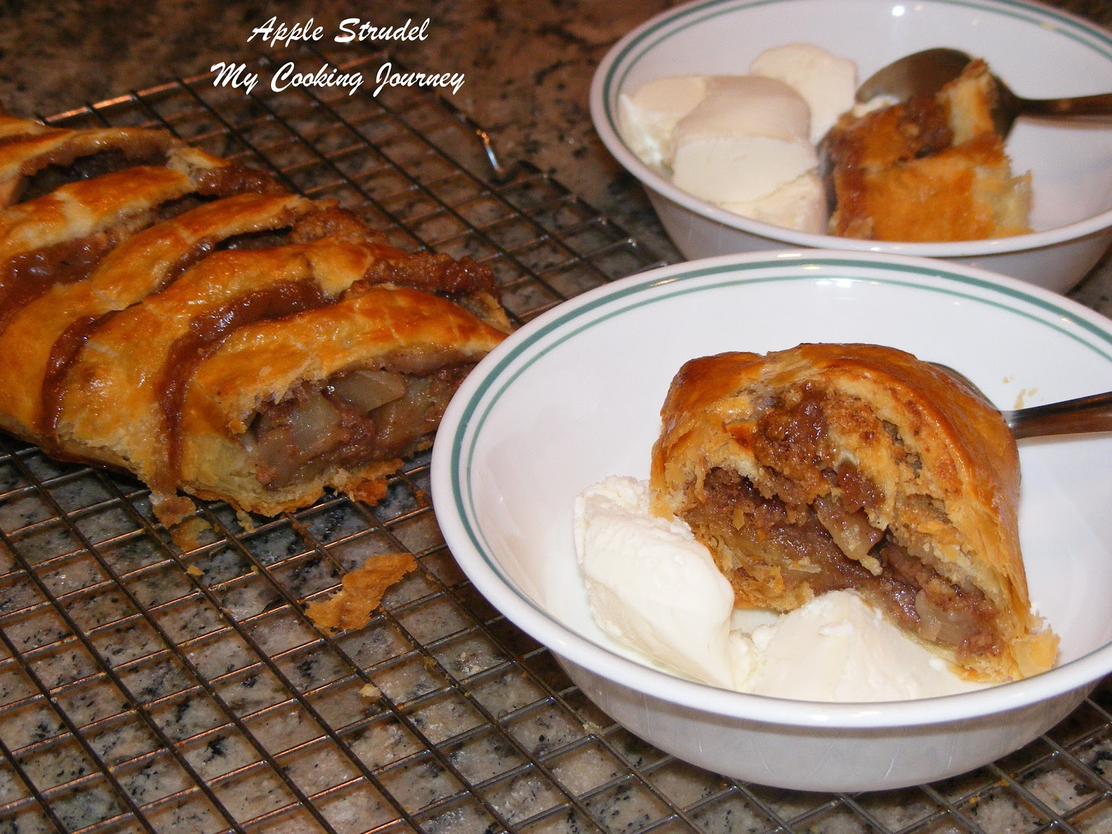 Apple Strudel (Delicious Apple desert made with Puff Pastry sheets ...