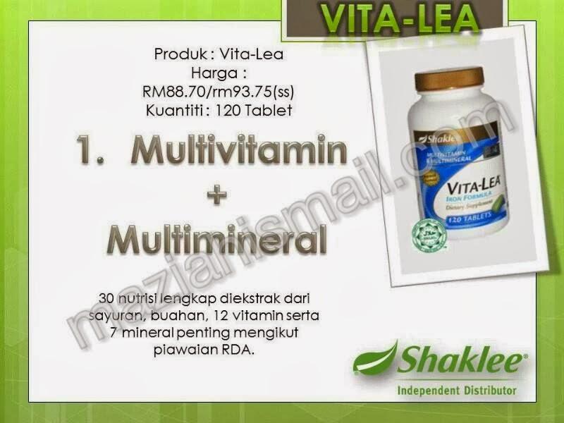 Vita Lea Shaklee lengkap dengan nutrisi