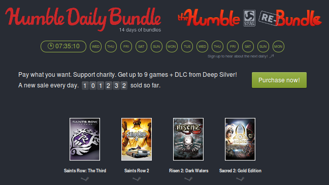 Humble Bundle Diario.