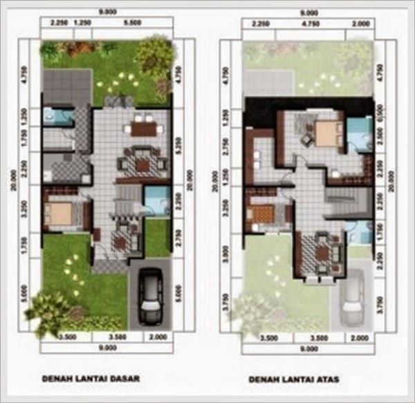 Contoh Desain Denah Rumah Minimalis Tipe 60