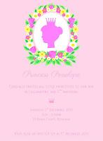 Shop Floral Princess Birthday Party Printable Invitation