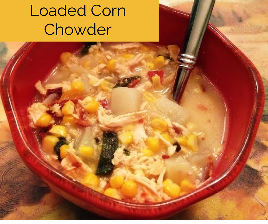 Loaded Corn Chowder on Katy's Kitchen