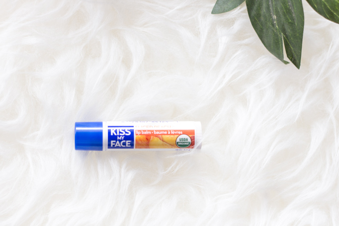 kiss my face sliced peach lip balm review