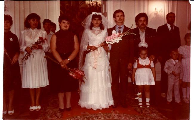 Natasa la fille aînée de Boris Vatav son mari et Tania Trahman leur fille Chisinau Moldova