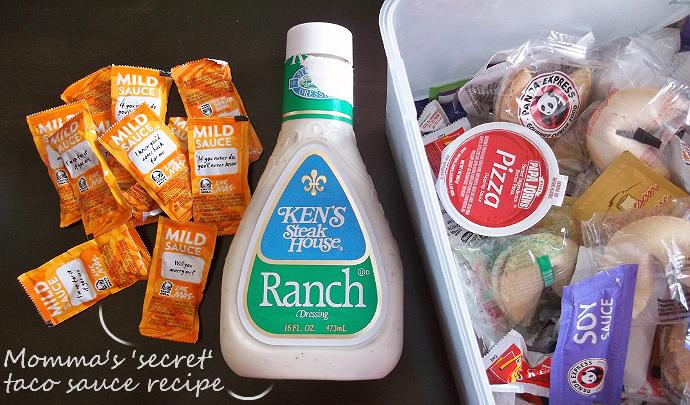 Secret taco Sauce Recipe