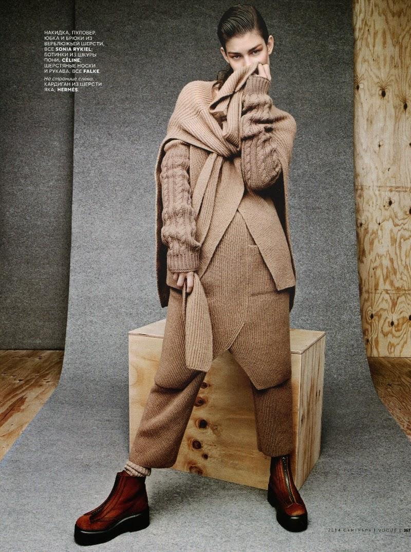 Ophelie Guillermand by Jason Kibbler & Olga Dunina for Vogue Russia September 2014 | Ses Rêveries