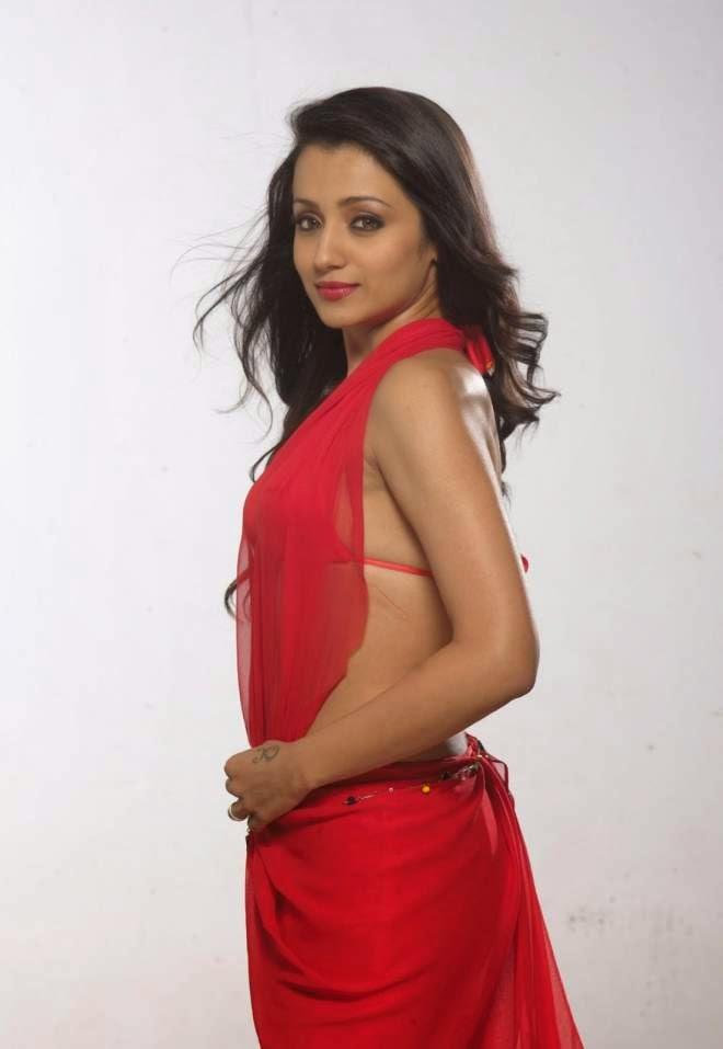 trisha hot backless photo
