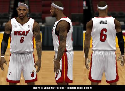 NBA 2K13 Tight Jerseys Mod V2
