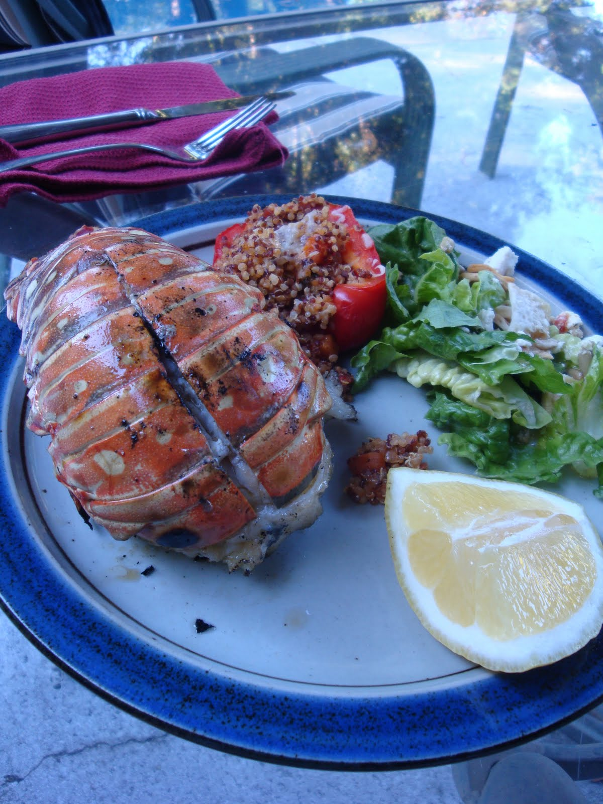 Stealth Cooking: Grilled Lobster Tail