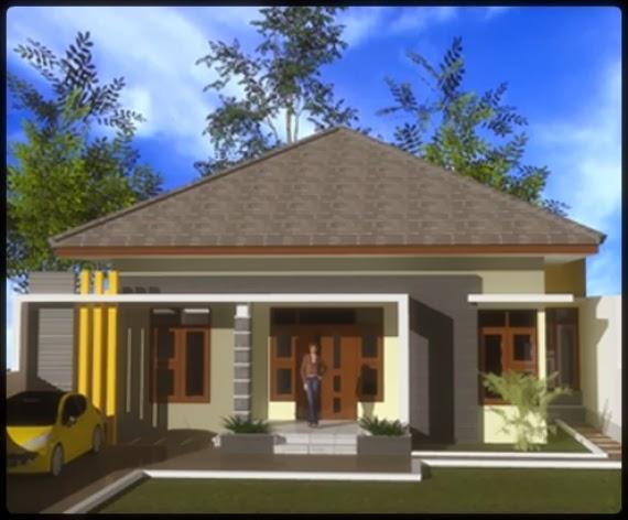 Contoh model desain rumah 1 lantai