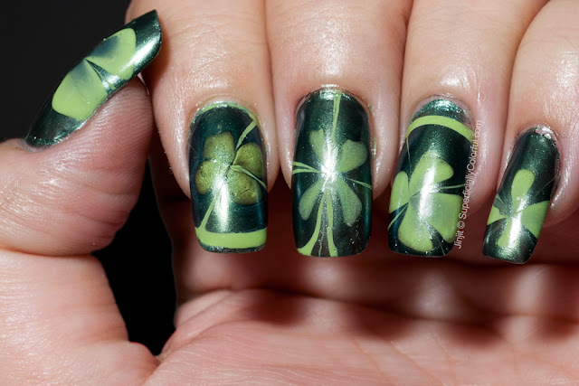 Water Marble Orly Green Apple Ga-De Green Sapphire