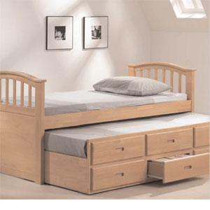 For Sale Functional Bed Day Bed Drawers Pull Out Bed In One