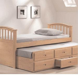 Double Bed With Pull Out Bed