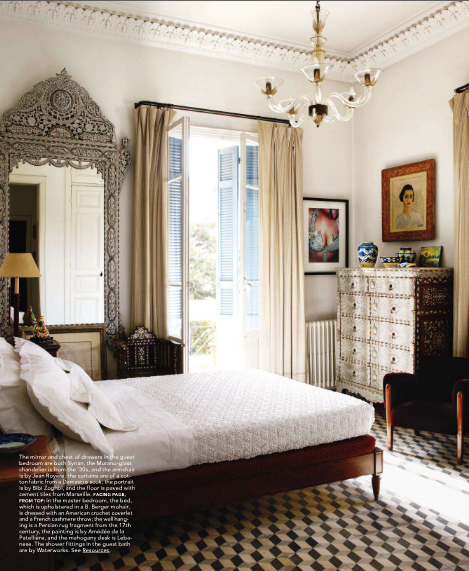 Food for thought global chic elle decor - Elle decor bedrooms ...