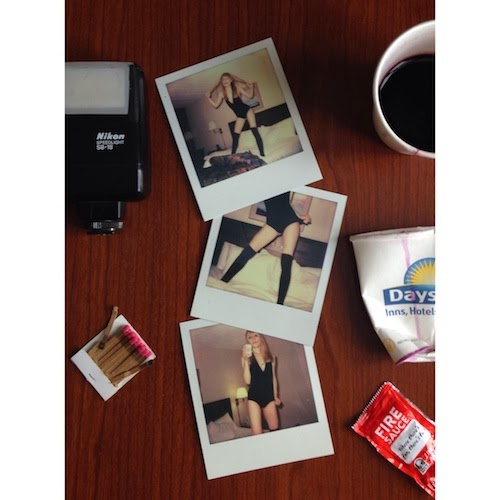 what happened last night? trashing hotel rooms and drinking wine from paper cups, impossible project polaroid.