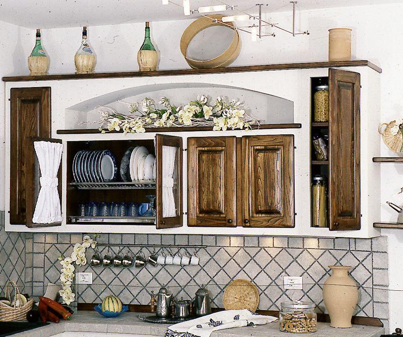 Arredamento country pensili cucina country for Pensili cucina