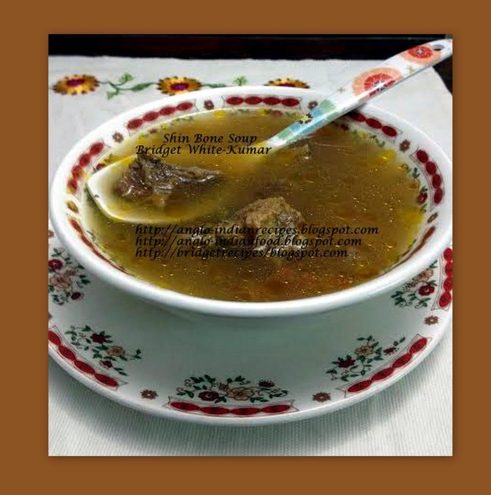 Anglo indian recipes by bridget white shin bone soup shin bone soup forumfinder Choice Image