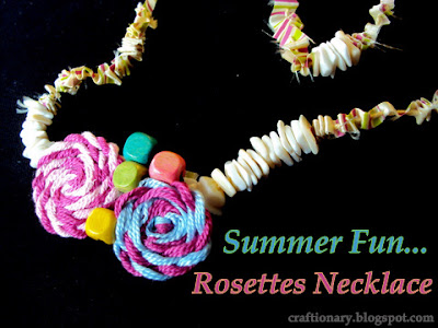 rosettes spring necklace