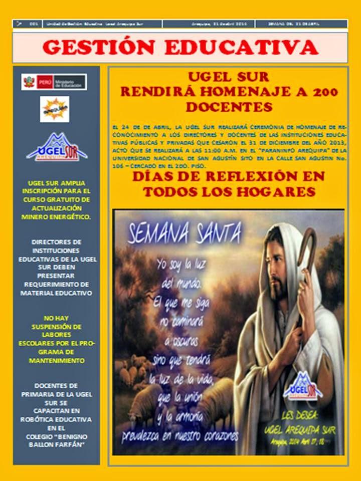 REVISTA INSTITUCIONAL UGEL SUR 2014