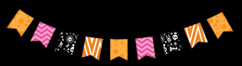 Halloween Bunting halloween bunting decoration vector Orange Abby Zeppelin