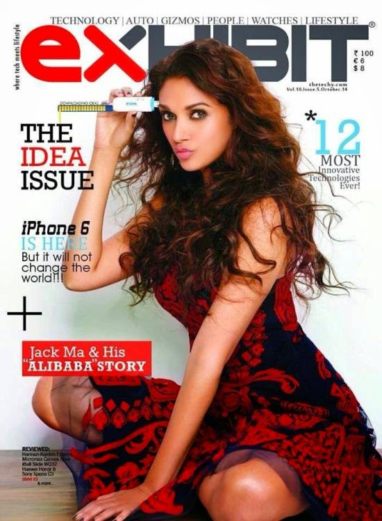 Aditi Rao Hydari Features on The Cover of Exhibit Magazine India October 2014