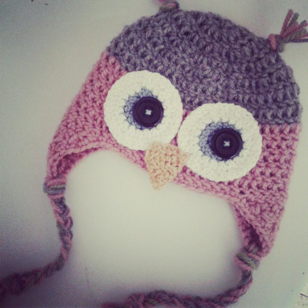 Gorro de Buho a Crochet - Ahuyama Crochet