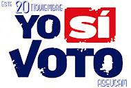 Yo si voto.