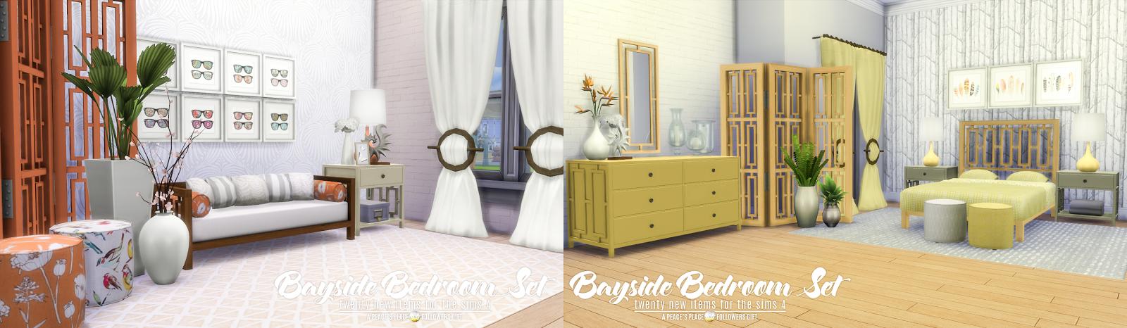 Simsational Designs Updated Bayside Bedroom Set